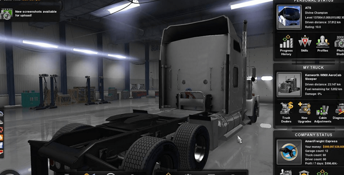 PC American Truck Simulator Save Game 100% | ATS Save File 100%