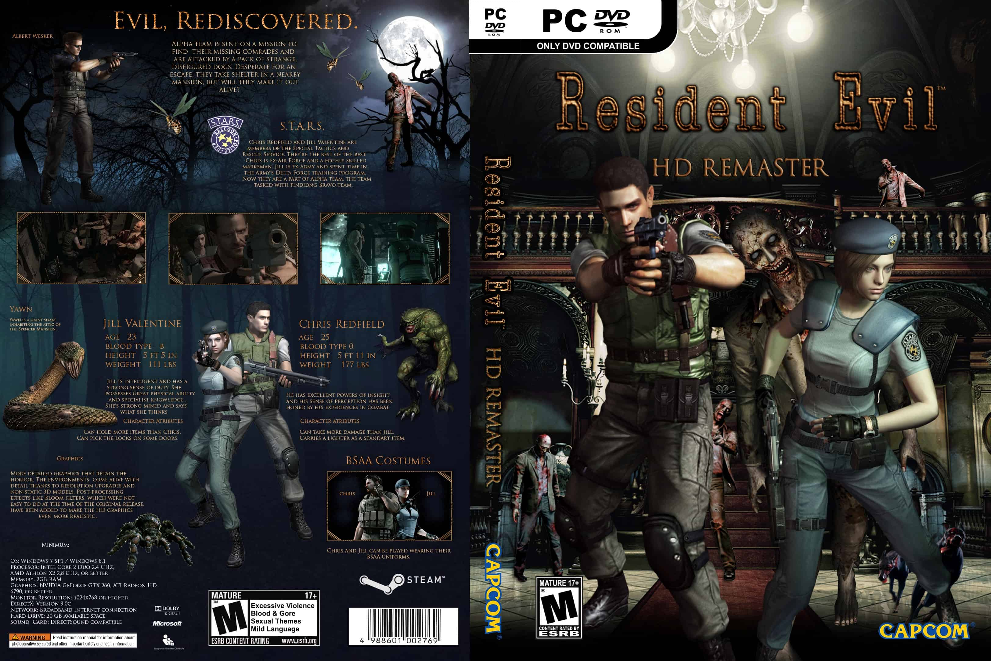 PC Resident Evil: HD Remaster SaveGame 100% - Save File Download
